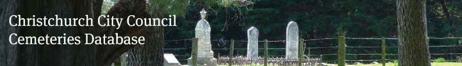 Christchurch Cemeteries Database